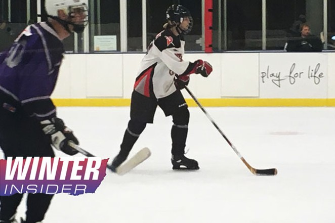 Tryouts for the adult hockey league in Bend. The tryout is a scrimmage for all levels to determine their placement in a league. - ERIC JORDAN