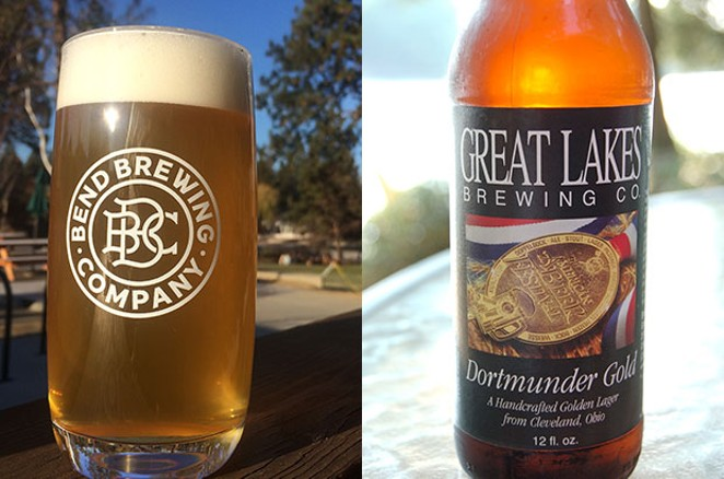 Great Lakes Brewing's Dortmunder Gold, right, and Bend Brewing Companies' Dortmunder, left, coming late November. - FLICKR / CHRIS SCOTT