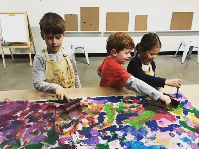 Take a night off while the kids enjoy Paint Night, Dec. 14. - SUBMITTED