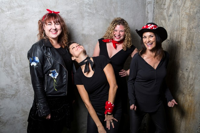 Ashleigh Flynn & The Riveters bring their all-female, rock-meets-Americana sound to the Domino Room 11/23. - SUBMITTED.
