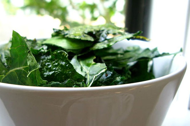 Before you hit that holiday party and its sinful snacks, might we suggest a bowl of fiber-rich kale to stave off the serious munchies? - WIKIMEDIA COMMONS