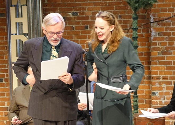 Rick Jenkins and Mary Hildebrandt as Kris Kringle and Susan. - ELIZABETH WARNIMONT