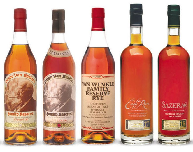 The cost of winning that 23-year Pappy Van Winkle Family Reserve is paying $269.95 for the bottle. - SUBMITTED