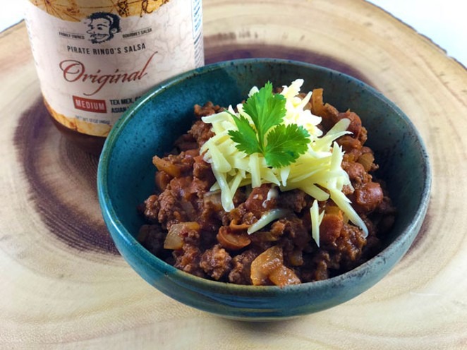 Hearty Pirate Chili. - LISA SIPE