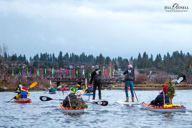 The Holiday Lights Paddle Parade is a Bend tradition, nearly 20 years strong. - JILL ROSELL