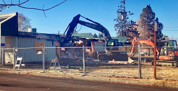 The former Printing Post building being torn down for expanding Centennial Park in Redmond. - CITY OF REDMOND PARKS DIVISION
