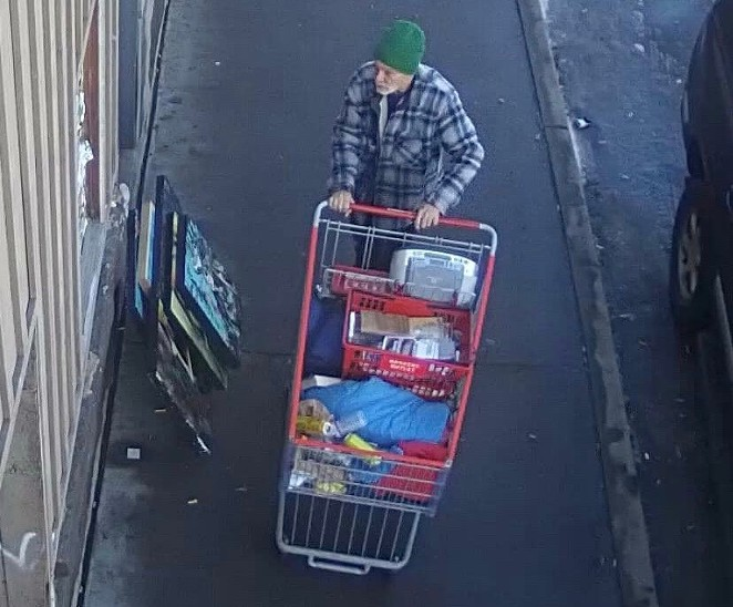 One of the possible suspects for the taking of Megan Stumpfig's art from the front of the Domino Room on Dec. 29. - PHOTO SUBMITTED BY ASHLEE GRUVER