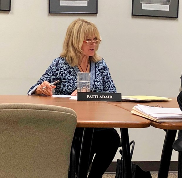 Patti Adair participates in her first work session as Deschutes County Commissioner Monday. - CHRIS MILLER