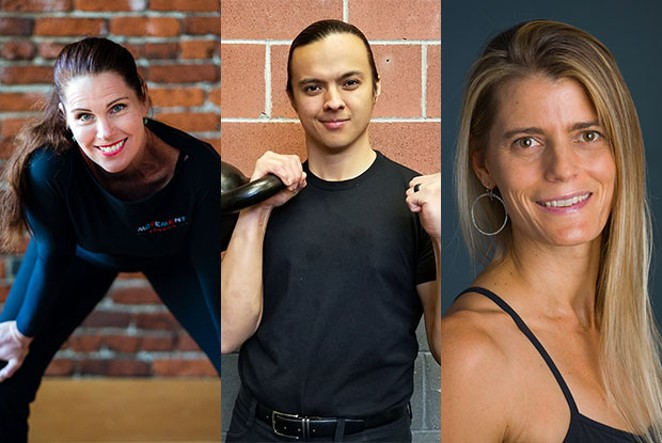 From left: Denise Palermo, Aaron Tandem and Deb Bowen. - DAYLENE WILKINS
