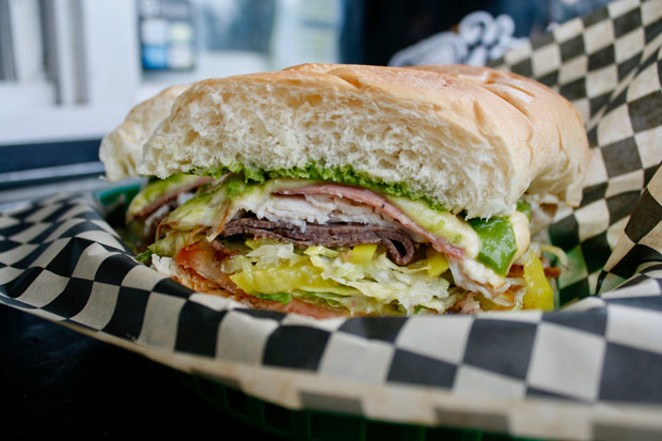 The multi-layer Murray and other sandwiches and soups are available at Hogan:s Hoagie Stop at River's Place in east Bend. - CHRIS MILLER