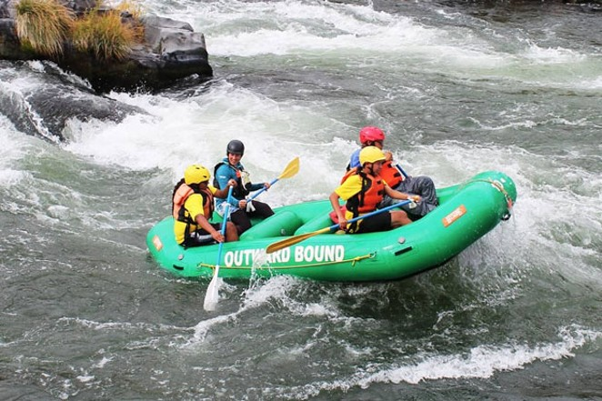 @nwoutwardbound shares an awesome rafting photo from the Deschutes River during warmer times. Tag @sourceweekly and show up here in Lightmeter. - SUBMITTED