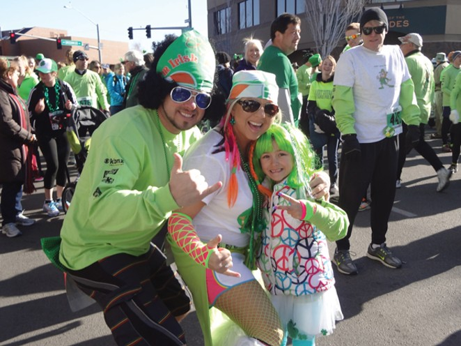 Get decked out in green for the St. Patty's Day Dash on March 17. - SUBMITTED