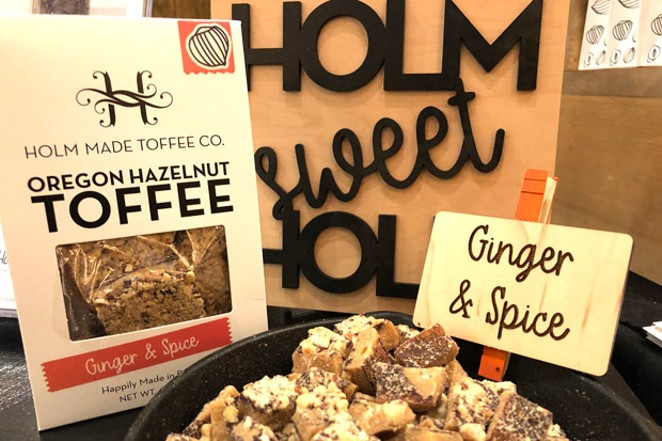 Local favorite, Holm Made Toffee, took home the prize for Best Chocolate Candy for its ginger and spice hazelnut toffee. - LISA SIPE