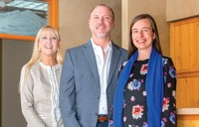Cascade School of Music's Development Director, Kate Hanni (left), Executive Director, Robert Lambeth and Registrar, Carly Marunowski. - SUBMITTED