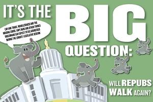 It's the Big Question: Will Repubs Walk Again?