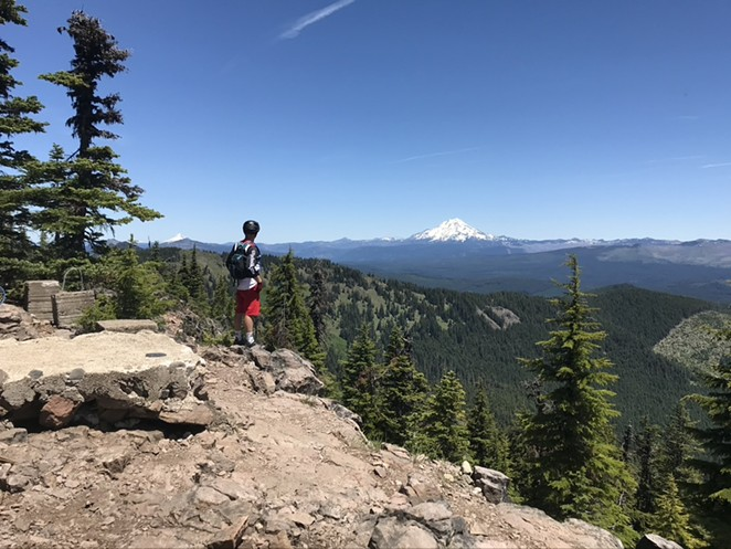Taking in the view of the Old Cascade Crest with Cog Wild