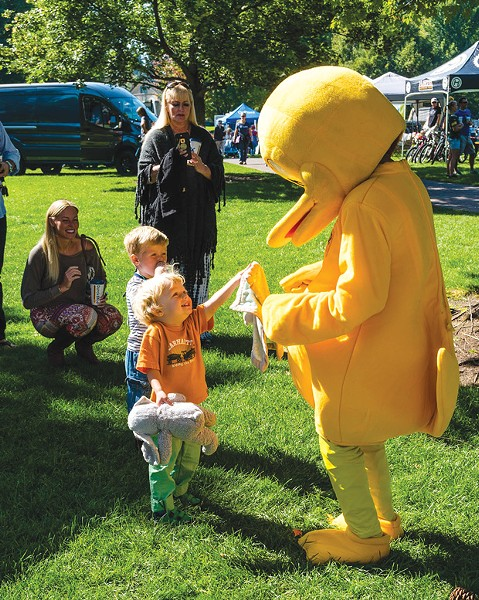 Kids love the Great Duck Race at Drake Park on September 8 . - SUBMITTED