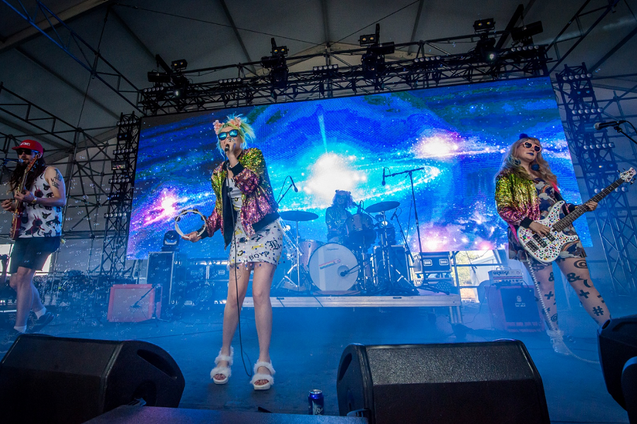 Tacocat performing at the 2016 Sasquatch Music Fest - MICHAEL LAMB