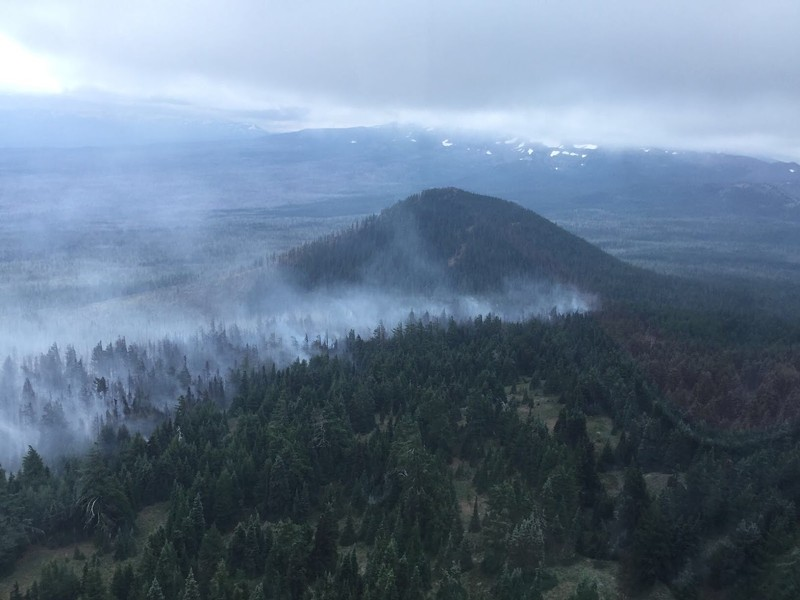 The Milli Fire west of Sisters, seen from the air Aug. 13. - CENTRAL OREGON FIRE INFORMATION