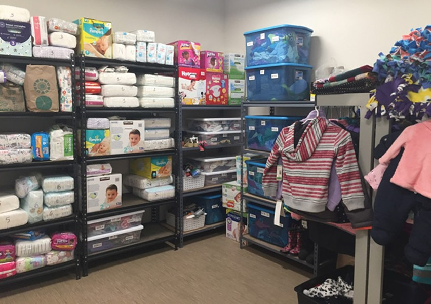 Donated supplies for families. - SUBMITTED