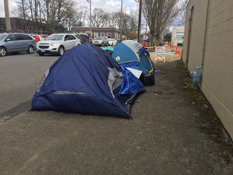 A homeless camp in Southeast Portland. - WIKIMEDIACOMMONS
