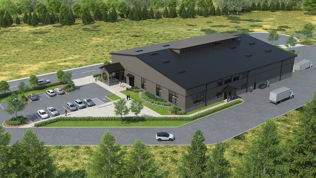 A rendering of pFriem's planned new facility in Cascade Locks, Ore. - PFRIEM FAMILY BREWERS
