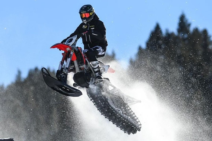 Darrin Mees of Redmond placed 4th in the recent 2019 X Games, competing in the growing sport of snowbiking. - SUBMITTED