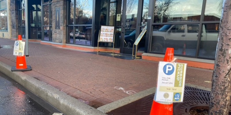 Downtown Bend is already well-equipped for takeout and delivery, with dedicated pick-up points already in place.