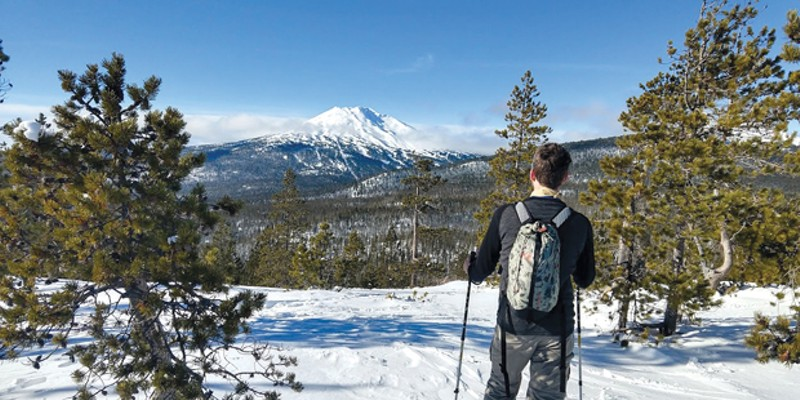 Vista Butte Sno-park offers great views of Mt. Bachelor, South Sister, Tumalo and Broken Top.