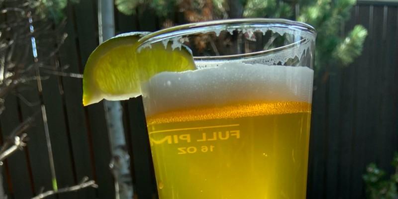 A glass of Deseo Latin Lager at Sunriver's Galveston Pub.