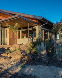 """The exterior of the award-winning """"Desert Rain"""" house designed by architect Al Tozer and built by Timberline Construction of Bend."""