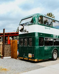 What once served as a tour bus in the UK during the 1960s now serves up fried chicken and waffles, and other hearty favorites.