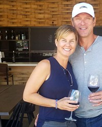 Maura and Drew Bledsoe at the new space in The Box Factory.