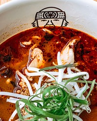 At Miyagi—whose name and logo are inspired by the character in The Karate Kid—the spicy pork miso with a soft-cooked egg is this writer's favorite!