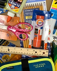One way to reduce waste this school year: poring over last year's school supplies before buying more.