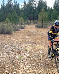 Kevin English from Dirty Freehub is off for a spin on the Mack Canyon route.