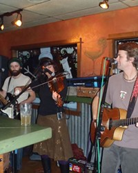 From left, Patrick Pearsall, Julie Southwell and Mark Ransom perform at Parrilla Grill in 2010.