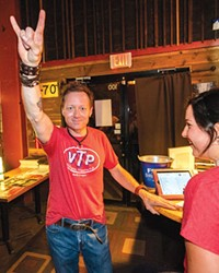In happier and healthier times, VTP's Derek Sitter rocks out before all the cancellations.