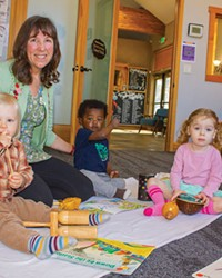 Cascade School of Music instructor Barbara Hogstad teaches Kindermusik classes.
