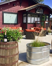 The patio at the new Eqwine Wine Bar looks inviting.