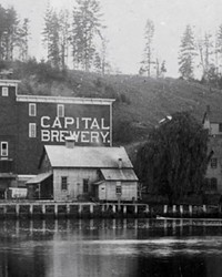 The original Capitol Brewery before the name changed to Olympia Brewing.