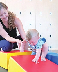 Mindfully moving with your little one builds bonds and healthy habits for mommas and kids!
