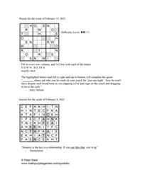 Pearl's Puzzle - Week of Feb. 18