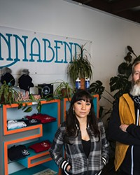 Lizette and Lyle Coppinger, owners of Cannabend.
