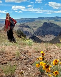 Monitoring in the Spring Basin Wilderness in Eastern Oregon.