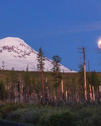 Now that's a lunar eclipse! Over South Sister! @art_of_adventures shared this photo with us of the May 26 blood moon eclipse. Tag us @sourceweekly for a chance to be featured here and in the Instagram of the Week in the Cascades Reader—plus now, get a framed print of your piece courtesy of High Desert Frameworks.