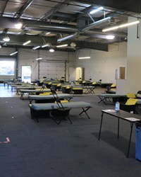 The main room at the new permanent shelter for Shepherd's House. Previously it had strictly been a warming center for the colder months, but now is open year-round.