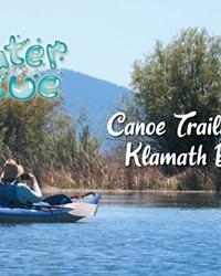 Signage marks the canoe trail in Upper Klamath Lake.