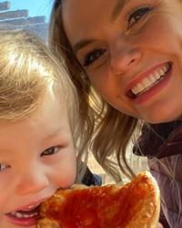Amy Duda with her son Jack, aka Jackaroo.