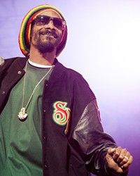 Snoop Dogg performing at Hove Festival in 2012.